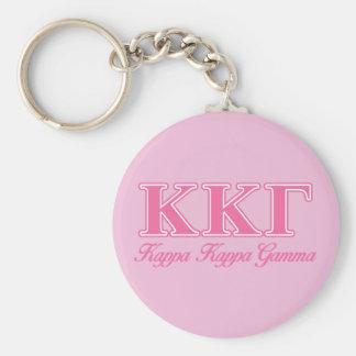 Kappa Kappa Gamma Pink Letters Key Ring