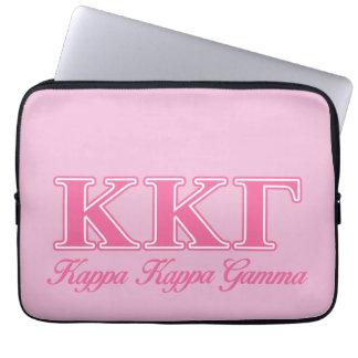 Kappa Kappa Gamma Pink Letters Laptop Sleeve