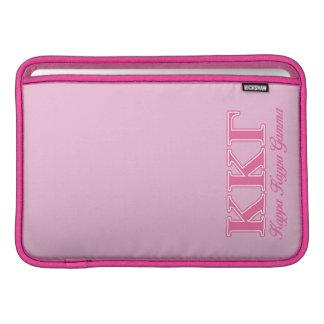Kappa Kappa Gamma Pink Letters MacBook Sleeve