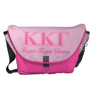 Kappa Kappa Gamma Pink Letters Messenger Bag