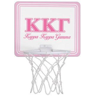 Kappa Kappa Gamma Pink Letters Mini Basketball Hoop