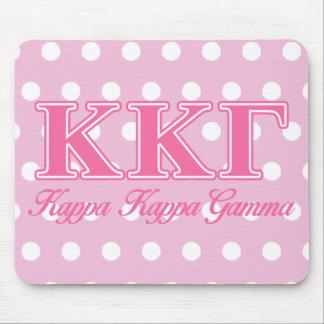 Kappa Kappa Gamma Pink Letters Mouse Mat