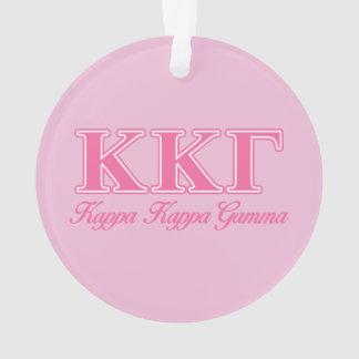 Kappa Kappa Gamma Pink Letters Ornament