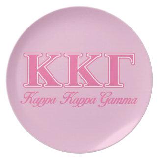 Kappa Kappa Gamma Pink Letters Plate
