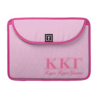 Kappa Kappa Gamma Pink Letters Sleeve For MacBooks