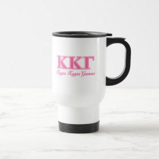 Kappa Kappa Gamma Pink Letters Travel Mug