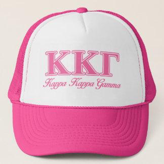 Kappa Kappa Gamma Pink Letters Trucker Hat