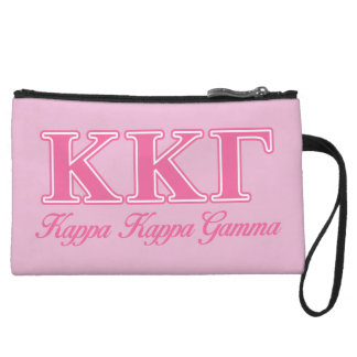 Kappa Kappa Gamma Pink Letters Wristlet