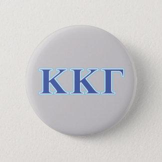 Kappa Kappa Gamma Royal Blue and Baby Blue Letters 6 Cm Round Badge