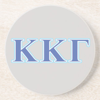 Kappa Kappa Gamma Royal Blue and Baby Blue Letters Beverage Coaster