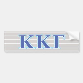 Kappa Kappa Gamma Royal Blue and Baby Blue Letters Bumper Sticker