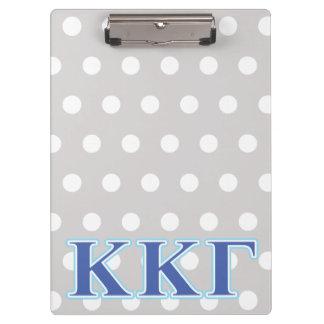Kappa Kappa Gamma Royal Blue and Baby Blue Letters Clipboard