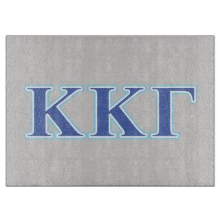 Kappa Kappa Gamma Royal Blue and Baby Blue Letters Cutting Board