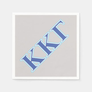 Kappa Kappa Gamma Royal Blue and Baby Blue Letters Disposable Serviette