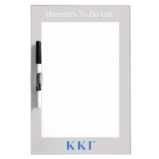 Kappa Kappa Gamma Royal Blue and Baby Blue Letters Dry Erase Board