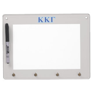 Kappa Kappa Gamma Royal Blue and Baby Blue Letters Dry Erase Board With Key Ring Holder