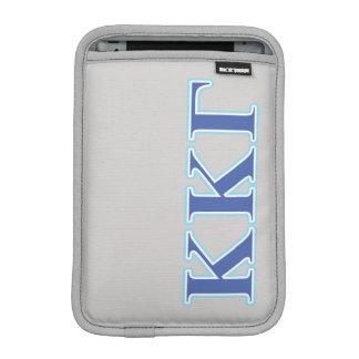 Kappa Kappa Gamma Royal Blue and Baby Blue Letters iPad Mini Sleeve