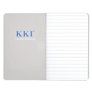 Kappa Kappa Gamma Royal Blue and Baby Blue Letters Journal