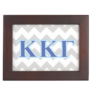 Kappa Kappa Gamma Royal Blue and Baby Blue Letters Keepsake Box