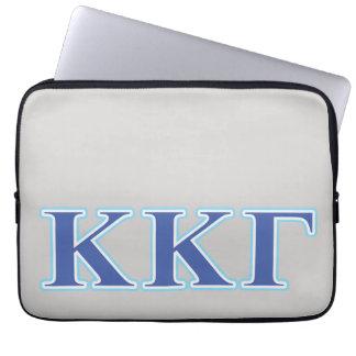 Kappa Kappa Gamma Royal Blue and Baby Blue Letters Laptop Sleeve