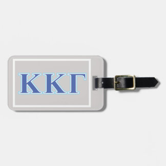 Kappa Kappa Gamma Royal Blue and Baby Blue Letters Luggage Tag