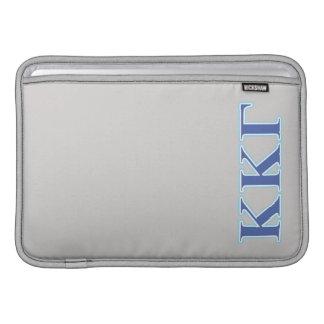 Kappa Kappa Gamma Royal Blue and Baby Blue Letters MacBook Sleeve