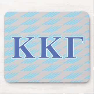 Kappa Kappa Gamma Royal Blue and Baby Blue Letters Mouse Mat