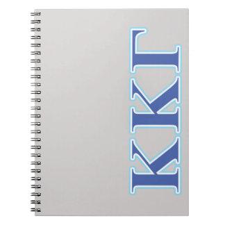Kappa Kappa Gamma Royal Blue and Baby Blue Letters Notebook