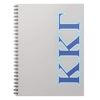 Kappa Kappa Gamma Royal Blue and Baby Blue Letters Notebooks