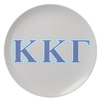 Kappa Kappa Gamma Royal Blue and Baby Blue Letters Plate