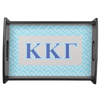 Kappa Kappa Gamma Royal Blue and Baby Blue Letters Serving Tray