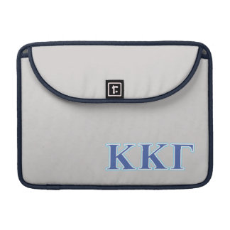 Kappa Kappa Gamma Royal Blue and Baby Blue Letters Sleeve For MacBooks