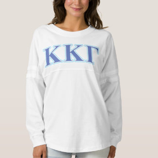 Kappa Kappa Gamma Royal Blue and Baby Blue Letters Spirit Jersey