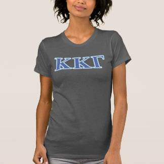 Kappa Kappa Gamma Royal Blue and Baby Blue Letters T-Shirt