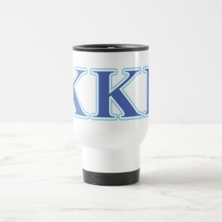 Kappa Kappa Gamma Royal Blue and Baby Blue Letters Travel Mug