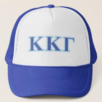 Kappa Kappa Gamma Royal Blue and Baby Blue Letters Trucker Hat