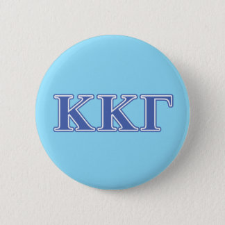 Kappa Kappa Gamma Royal Blue Letters 6 Cm Round Badge