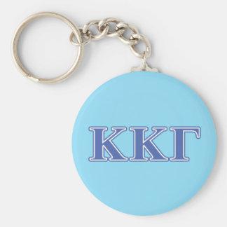 Kappa Kappa Gamma Royal Blue Letters Basic Round Button Key Ring