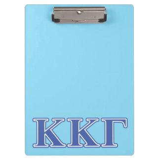 Kappa Kappa Gamma Royal Blue Letters Clipboard