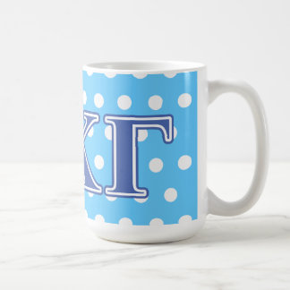 Kappa Kappa Gamma Royal Blue Letters Coffee Mug