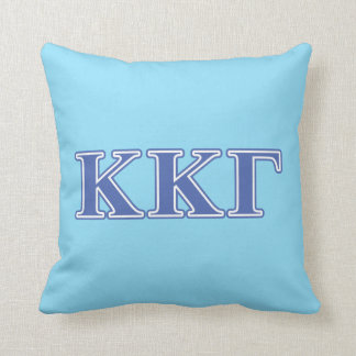 Kappa Kappa Gamma Royal Blue Letters Cushion