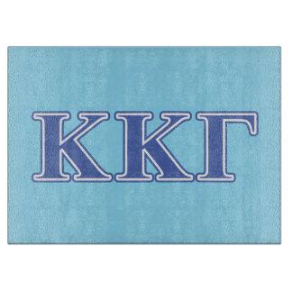 Kappa Kappa Gamma Royal Blue Letters Cutting Board