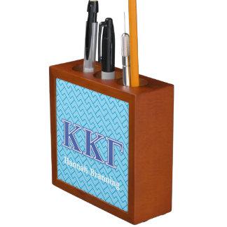 Kappa Kappa Gamma Royal Blue Letters Desk Organiser