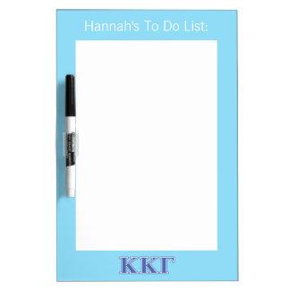 Kappa Kappa Gamma Royal Blue Letters Dry Erase Board