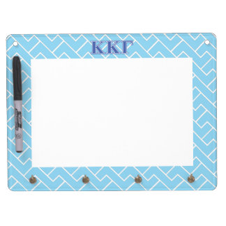 Kappa Kappa Gamma Royal Blue Letters Dry Erase Board With Key Ring Holder