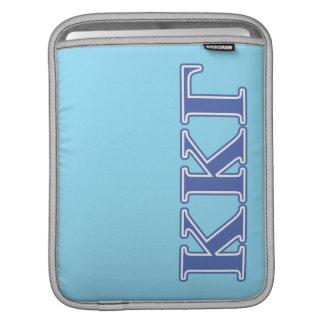 Kappa Kappa Gamma Royal Blue Letters iPad Sleeve