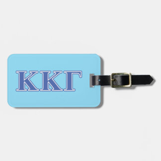 Kappa Kappa Gamma Royal Blue Letters Luggage Tag
