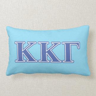 Kappa Kappa Gamma Royal Blue Letters Lumbar Cushion