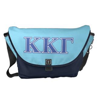 Kappa Kappa Gamma Royal Blue Letters Messenger Bag