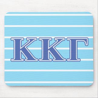 Kappa Kappa Gamma Royal Blue Letters Mouse Mat